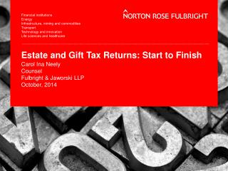 Estate and Gift Tax Returns: Start to Finish