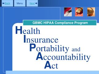 GBMC HIPAA Compliance Program