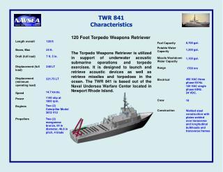 TWR 841 Characteristics