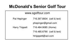 McDonald�s Senior Golf Tour