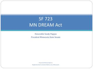 S F 723 MN DREAM Act