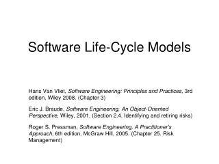 Software Life-Cycle Models
