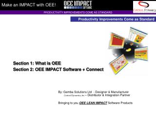 Make an IMPACT with OEE!