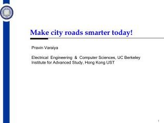 Make city roads smarter today!