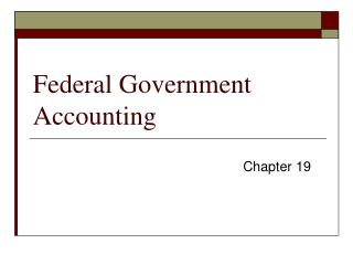 Federal Government Accounting