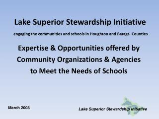 Expertise & Opportunities offered by Community Organizations & Agencies