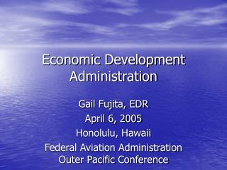 Economic Development Administration