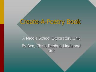 Create-A-Poetry Book