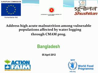 Address high acute malnutrition among vulnerable populations affected by water logging