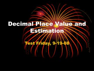 Decimal Place Value and Estimation