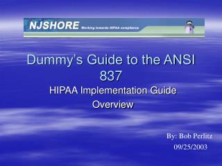 Dummy's Guide to the ANSI 837