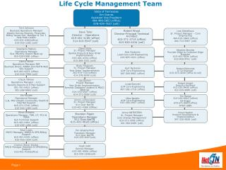 Life Cycle Management Team