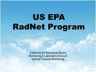 US EPA RadNet Program