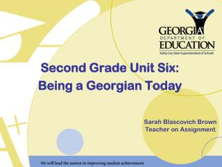 Second Grade Unit Six: Being a Georgian Today