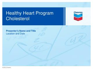 Healthy Heart Program  Cholesterol
