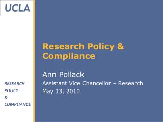 Research Policy & Compliance