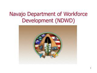 Navajo Department of Workforce Development (NDWD)