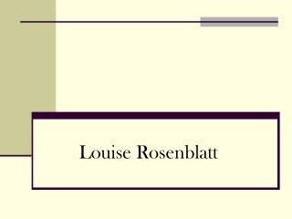Louise Rosenblatt