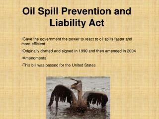 Oil Spill Prevention and Liability Act