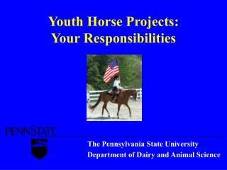 Youth Horse Projects:  Your Responsibilities