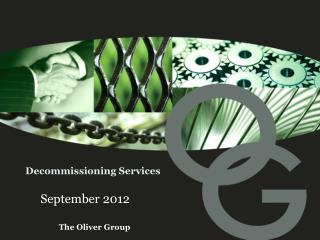 Decommissioning Services