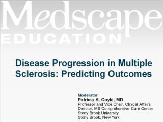 Disease Progression in Multiple Sclerosis: Predicting Outcomes