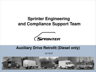 Auxiliary Drive Retrofit (Diesel only)