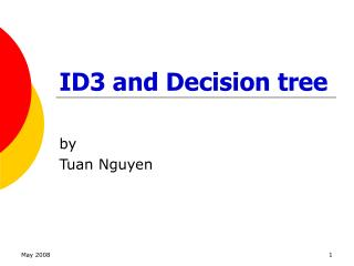 ID3 and Decision tree