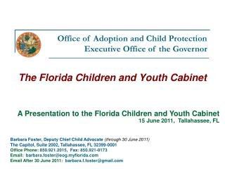 The Florida Children and Youth Cabinet