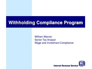 Withholding Compliance Program