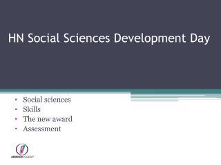 HN Social Sciences Development Day