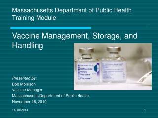 Massachusetts Department of Public Health Training Module