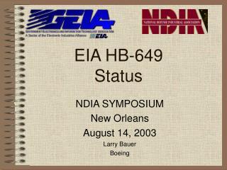 EIA HB-649   Status