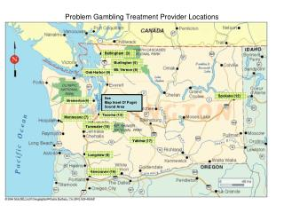 Problem Gambling Treatment Provider Locations