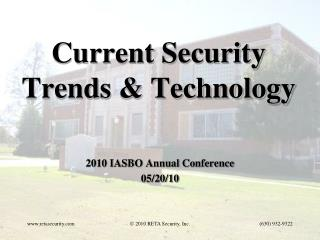 Current Security Trends & Technology