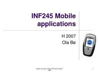 INF245 Mobile applications