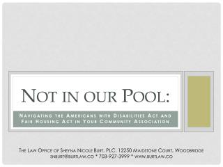 Not in our Pool: