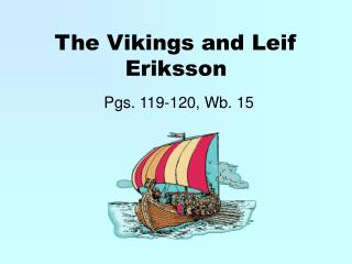 The Vikings and Leif Eriksson