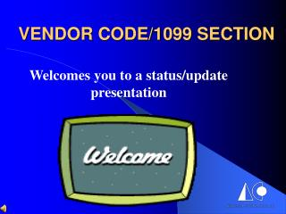 VENDOR CODE/1099 SECTION