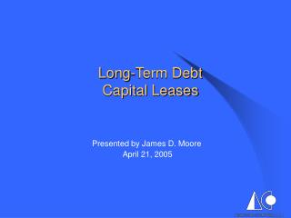 Long-Term Debt Capital Leases