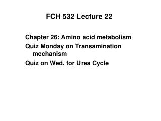 FCH 532 Lecture 22