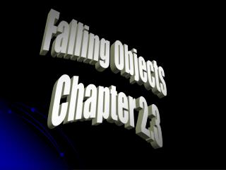 Falling Objects Chapter 2.3