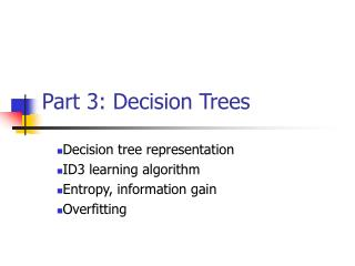 Part 3: Decision Trees