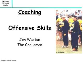 Coaching Offensive Skills Jon Weston The Goalieman