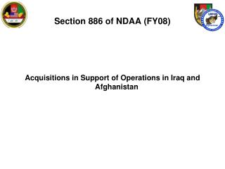 Section 886 of NDAA (FY08)