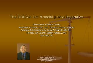 The DREAM Act: A social justice imperative