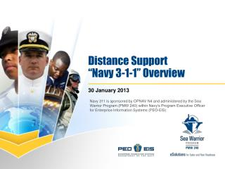 "Distance Support  ""Navy 3-1-1"" Overview"