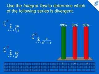 Use the  Integral Test  to determine which of the following series is divergent.