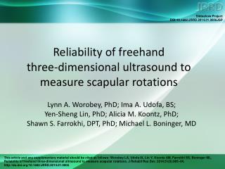 Reliability of freehand  three-dimensional ultrasound to measure scapular rotations