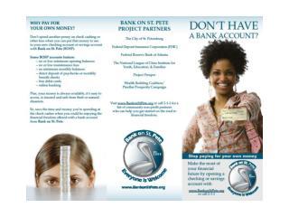 Bank On Brochure Samples